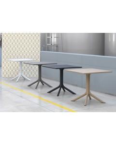 Nardi Clip 80 tavolo quadrato con gamba centrale a 4 razze e piano ...