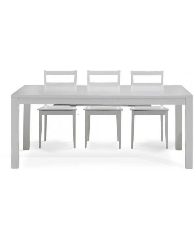 Tavolo 90 X 90 Allungabile Bianco.Tableau Blanc Extensible 130 250 X 90 X 76 Cm Am Amalfi 6 Chai