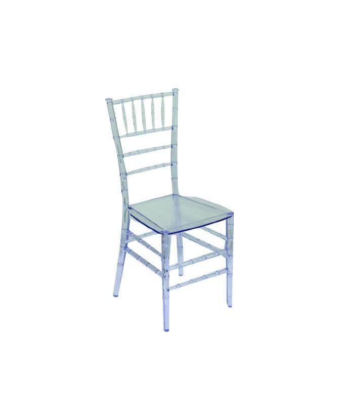 Sedia a m chiavarina in policarbonato impilabile trasparente for Chiavarina sedia