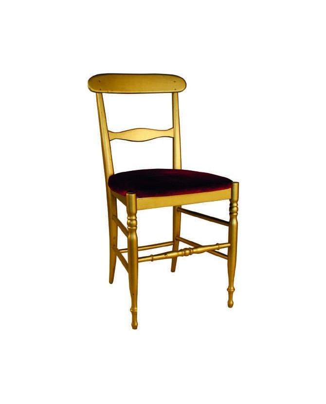 Am campanina sedia in legno colore oro seduta imbottita for Sedie design velluto