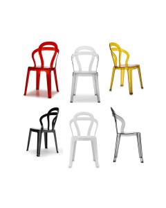 scab design chaise en polycarbonate titti chaise anthracite empilab. Black Bedroom Furniture Sets. Home Design Ideas