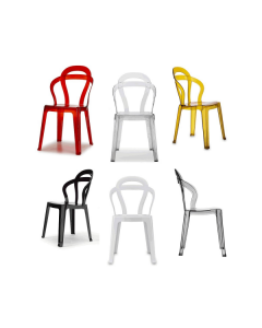 Scab design sedia tit chair in policarbonato impilabile for Chaise en acrylique transparent