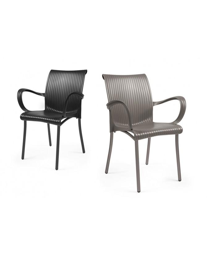 Nardi Dama empilable chaise de jardin coque en polypropylène alumin...